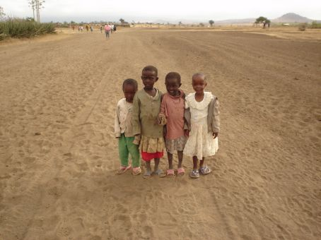 Some of the locals on our Masai village walk, bless!