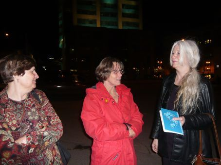 Teresa, Willow and Susanne bid us adieu at the Bus Depot after tea in the Holiday Inn next door.
