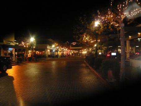 Down Alvarado Street, the street market in the distance