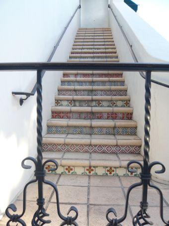 Interesting tiled staircase scene
