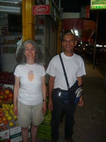 This is me with Charley. He was a great host and guide while we were in San Isidro on January 1st, 2008.