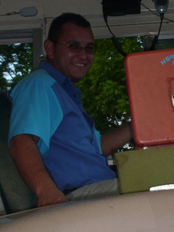 Our regular bus driver -- a really nice guy!