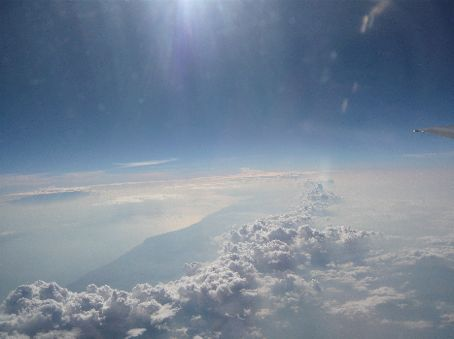 a vista from the plane