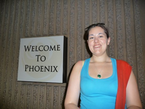 Me At Phoenix Airport, waiting for the Sedona shuttle