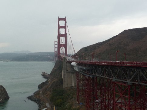 the golden gate bridge.. which is red!