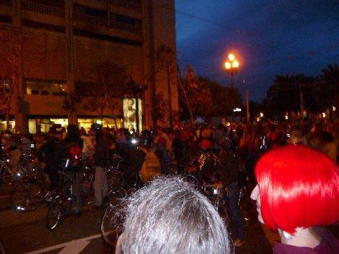 the Halloween critical mass cycle in San Fran!