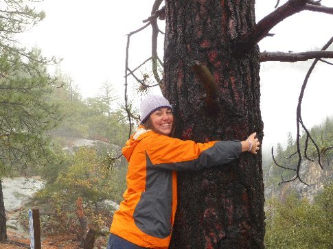me hugging some trees.... boy i was happy out! im officially a tree huger!