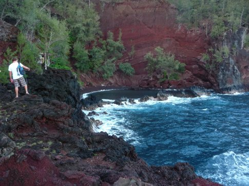 red sand beach Maui..