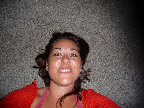 me lying flat out on the pier, watching the orbs as my flash illuminates them... Loving it!