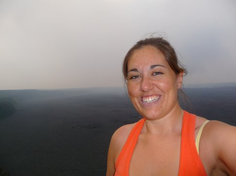 Me at the crater... in what is now my very fav spot in the world!