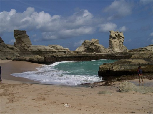 rock formation on Klayar Beach