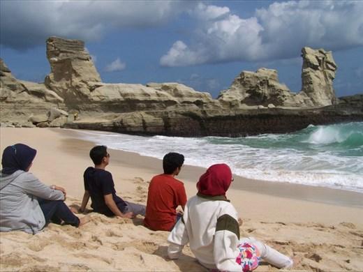 Rock Formations at Klayar Beach