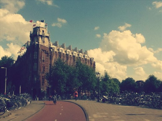 Bicycles & Youth Hostel, Amsterdam, Netherlands.