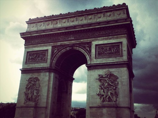 On my trip around Europe in 2014, i've stopped a moment to take this picture of the Arch of Triumph, Paris, France.