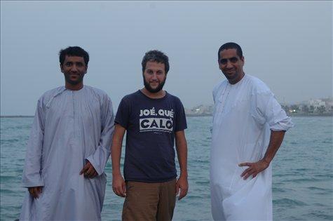 Con Yasir y Hamaid en Muscat