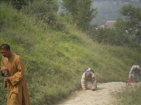 Peregrinos en Wutai Shan / Pilgrins in Wutai Shan