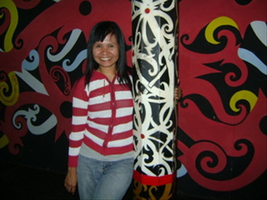 ME, AT BETANG. THE TRADITIONAL HOUSE OF DAYAKNESE, BORNEO
