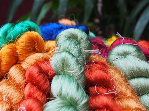 Beautiful Silk Threads at the Jim Thompson House