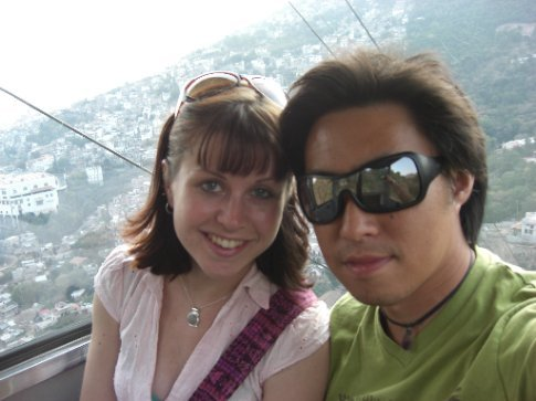 In the cable car
