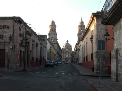 Streets in the city of Morelia