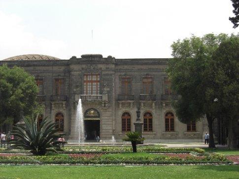 Gardens in Chapultepec Castle
