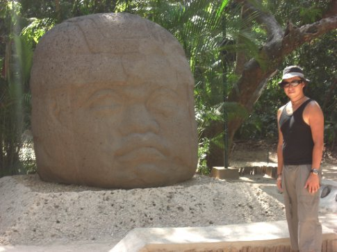 one of the big olmec heads