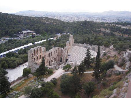 Athens.  An amphitheatre by the Acropolis