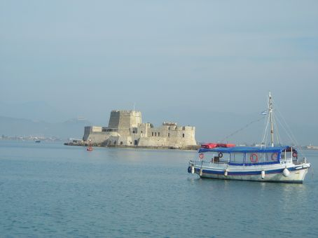 Nafplio.  Bourtzi - castle just off the coast