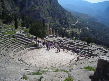 Delphi.  Amphitheatre in the archaeological site
