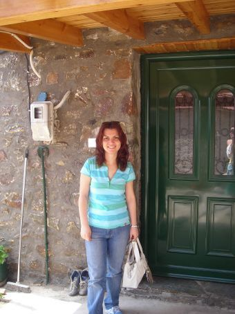 My friend and co-worker Elsa at her house in a little village in the mountains.