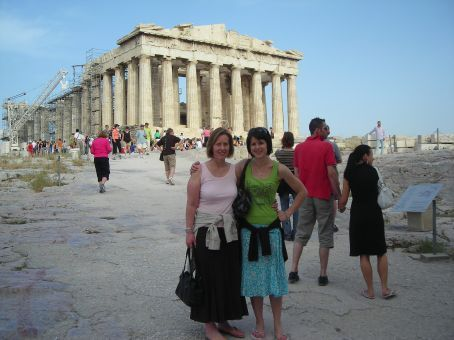 Athens.  Me and my mum at the Acropolis