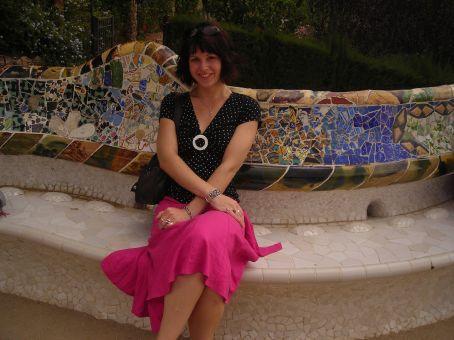 park guell mosaic seats