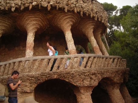 pillars in park guell