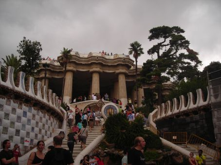 park guell steps
