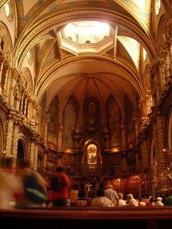beautiful church at montserrat