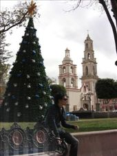 Ed and the Christmas tree in Plaza de Armas: by gemma, Views[509]