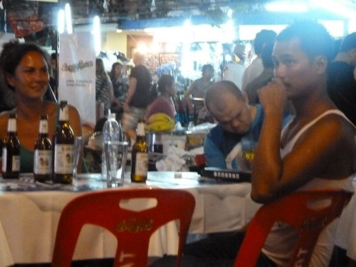 Very drunk man on Khao San - this was at about 9:00!