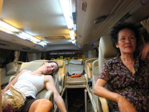 Après la tournée du Delta, on s'embarque pour un trajet de 10hres qui amènera à Nha Trang
