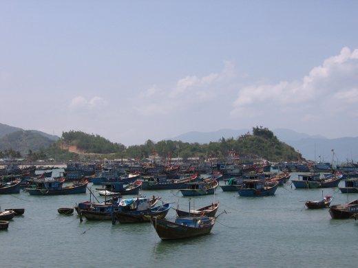 Port de pêcheur près de Nha Trang