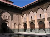 Courtyard of the Ali ben Youssef Medersa: by george_grigoriou, Views[166]
