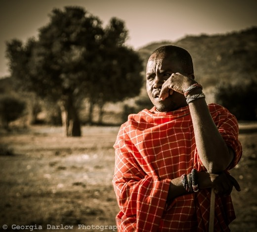 A Maasai tribesman