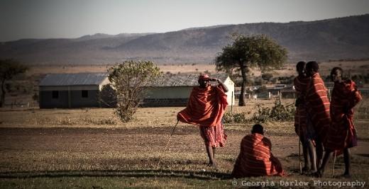 Some Maasai tribesmen chatting