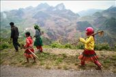 An ethnic-group family is walking home late in the afternoon after work.: by giangpham, Views[207]