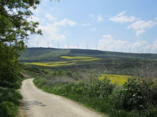Mountain trail to Alto del Perdon