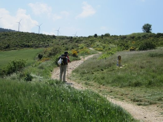 Vicente, my husband walking up to the mountain