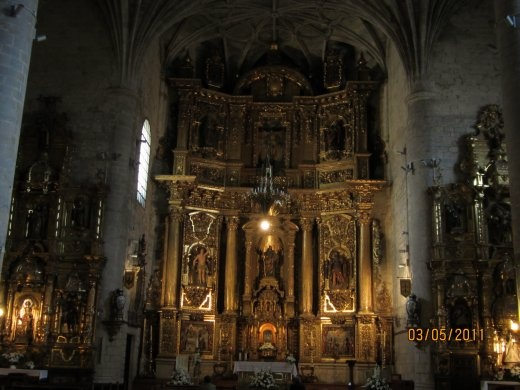 Inside of one of the many churches found along the Camino. This one at Puente La Reina