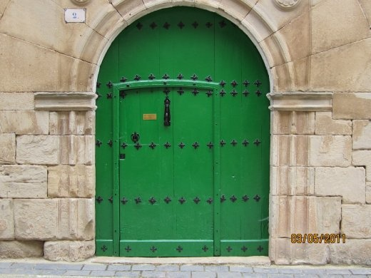 Just one of the many, many pretty and colorful doors along the Camino de Santiago