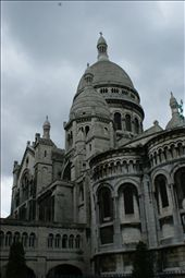 The domes and arches of Sacre Cur look tired and foreboding.  The damage done fr: by gildeddreams, Views[82]