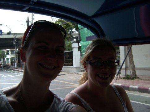 in our first tuk tuk