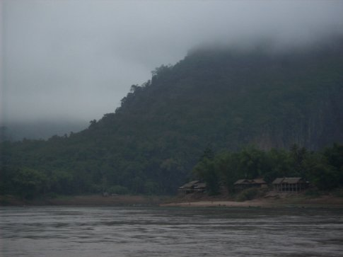 view from the slow boat on the mekong